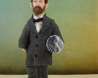 Alfred Nobel Prize Historical Collectible Doll Miniature