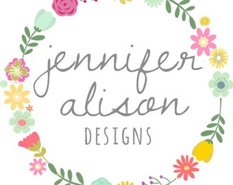 Pre-made Wreath Photography Business Logo Design and Watermark for Photographers and Small Businesses