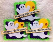 Halloween Ghost Embellishments/Card Toppers -Set of 3