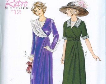 Downtown Abbey Titanic Dress Sewing Pattern Butterick 6093 UNCUT Sizes 6-8-10-12-14 Edwardian Gown