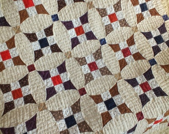 Heirloom quality Glorified Nine Patch quilt