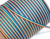 Rainbow Ribbon, Rainbow Grosgrain Ribbon 1/8 inch wide x 10 yards