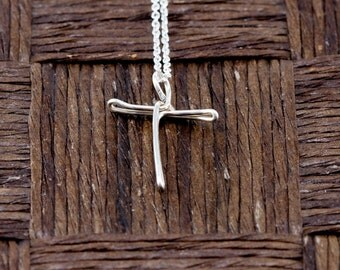 Sterling Silver Wire Wrapped Initial Pendant and Necklace - Letter T