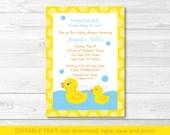 Cute Rubber Duck Baby Sho...