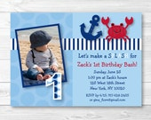 Cute Crab Birthday Invita...