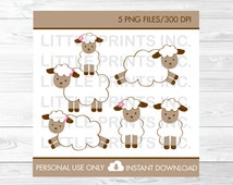 Baby Lamb Clipart PERSONAL USE Instant Download