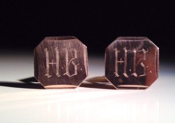 1920 Cufflinks 18K Gold 750 Monogram HB (6.8 grams)