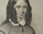 Antique Portrait Engravings - Women - for The Ladies Repository  - Rosa Bonheur, Queen Isabella, Elizabeth Barrett Browning