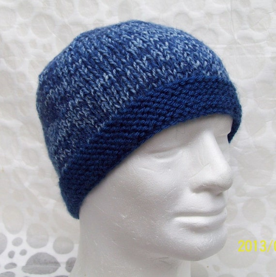 Beanie Knitting Pattern Straight Needles : BEANIE KNITTING PATTERN for Ted Mans Hat in Solid by RomeoRomeo