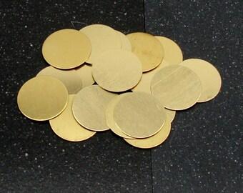 """1"""" Brass Disc 24 Gauge  Pack of 18"""