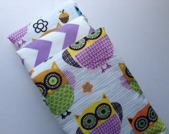 Happy Hoots Baby Burp Cloth Set (3)