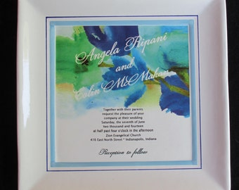 """10"""" Wedding Invitation Plate with Color Decal"""