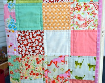 Baby Girl Quilt Crib Quilt Patchwork Quilt Toddler Bed Quilt Scrumptious Cotton and Steel Nursery Quilt Baby Shower Gift New Baby Quilt