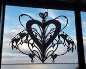 Three Handcut Original Paper Cut Twirlie Valentines