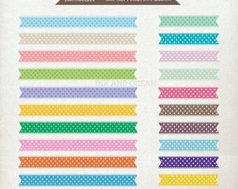 Digital clip art, spot, polka dot, banner, ribbons for invitations, card making, scrapbooking , Instant Download