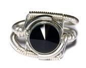 Steampunk Jewelry - Ring - Jet Black Swarovski Crystal