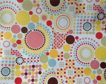 3395 - Retro Dots Circles Waterproof Fabric - 58 Inch (Width) x 1/2 Yard (Length)