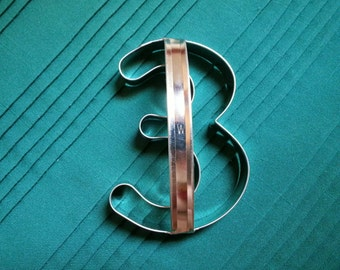 Number 3 Cookie Cutter With Custom Handle By West Tinworks!