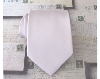 Mens Tie. Pearl Blush Pink Tie. Pink Champagne Necktie Pearl Pink Mens Tie With Matching Pocket Square Option