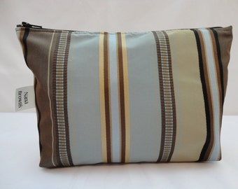 Zipper Pouch Cosmetic Bag - Stripe