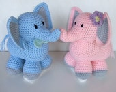 Crochet Pattern - CV116 Ella and Eddie The Elephants - Digital Download