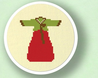 Hanbok. Korean Modern Simple Cute Counted Cross Stitch PDF Pattern Instant Download