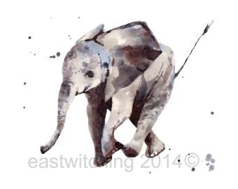 Watercolor ELEPHANT Print