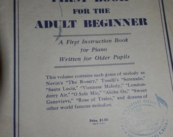 Copyright 1935, John M. Williams Adult Beginner Piano Sheet Music