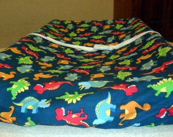 Blue Dinosaurs Changing Pad Cover