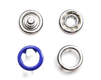 25 sets Navy Blue 8.5mm Open Snap Fasteners . colored prong snaps . ref.700125
