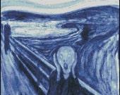 THE SCREAM BLUE cross stitch pattern No.753