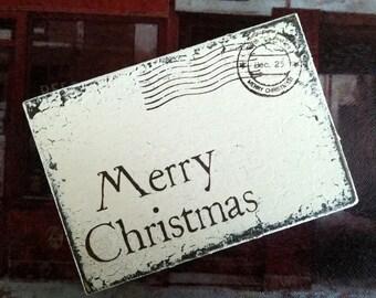 MERRY CHRISTMAS Postcard, North Pole Postcard, Christmas Post Card. Dec 25, 3 1/2 x 5