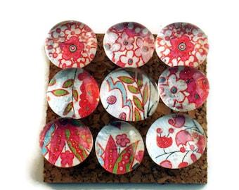 Decorative Glass Push Pins  Thumb Tacks Cork Board Pins in Dazzle (P76)