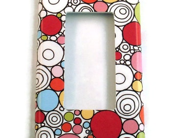 Rocker Switch Plate Home Decor Wall Decor Light Switch Cover  Switchplate Cover in Doodle  (080R)