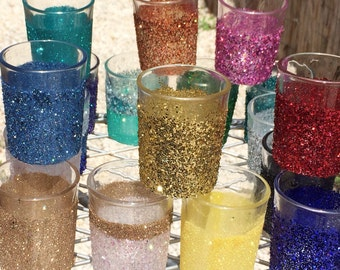 Glitter Votive Candle Holders - Your Choice of Color