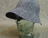 Flecked Black Sun Hat, sizes  Medium, Medium/Large, and Large
