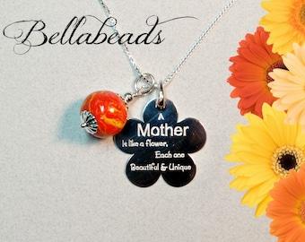Memorial Jewelry, Memorial Flower Petal Jewelry, Funeral Flower Jewelry, Memorial Gift Idea, A Mother Is...