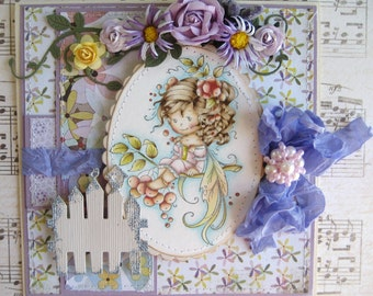 OOAK Rowan Fairy Hand Made Greeting Card