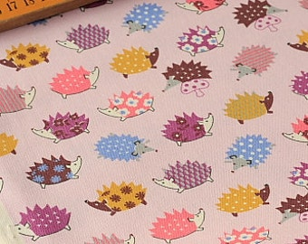 Japanese Fabric Kokka Cotton Thick - Hedgehog - Half Yard