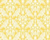 RBD, Medium Damask White on Yellow (C830 50) - cut options available