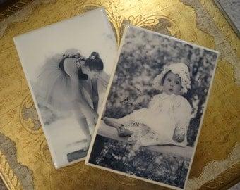 Vintage Shabby Cottage Chic Portrait Tiles