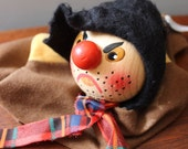 RESERVED for STELLA Vintage hand puppet from Germany Kersa hand made puppet or doll. The Robber.