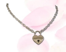 Precious Little Heart Lock BDSM Collar Submissive BDSM Daytime Slave Collar BDSM Jewelry