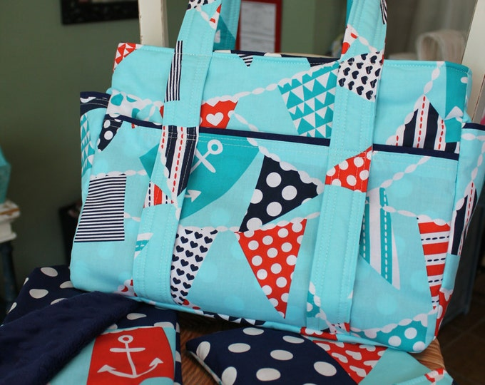 Three Piece Custom Baby Diaper Bag Set