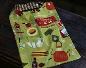 Reversible Multi purpose, Infant through Adult Adjustable Bib-Barbeque Print