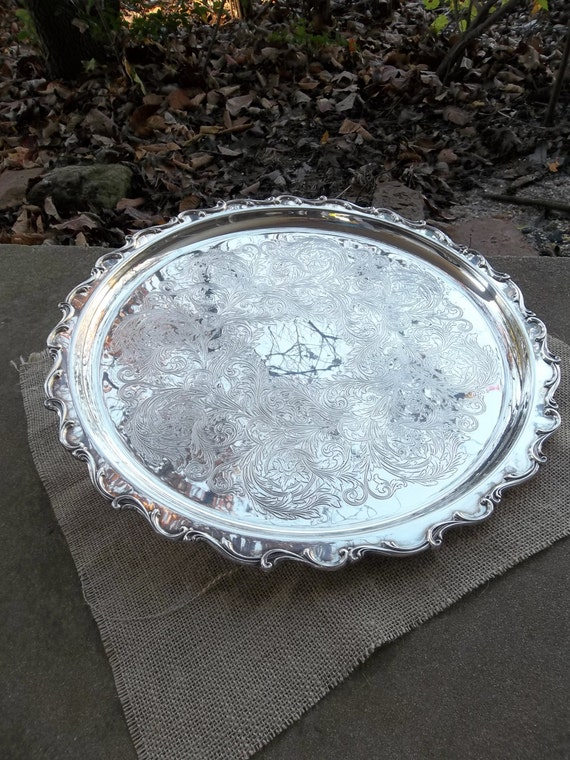 Silverplate Stand Under Cake Plate