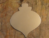 """5 Deburred 18G Aluminum 2 1/2"""" ornament sized Large CHRISTMAS ORNAMENT Stamping Blanks"""