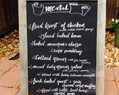 22X30 BUY 2 & Save! Wedding or Restaurant Menu Board Chalkboard Sign  Set of 2 Large Reclaimed Wood Framed Chalkboards