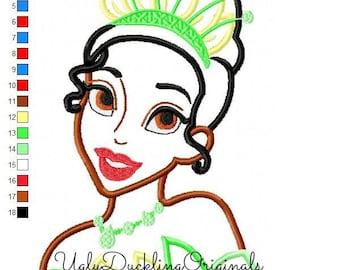 Tiana Princess Machine Embroidery  Applique Design Digital Download
