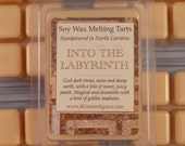 "The Labyrinth: Peach and Incense ""Into the Labyrinth"" 60 hour Soy Wax Melting Tart"
